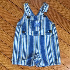 OshKosh B'gosh Bottoms - OshKosh Vintage Baby Boy Striped Shortalls